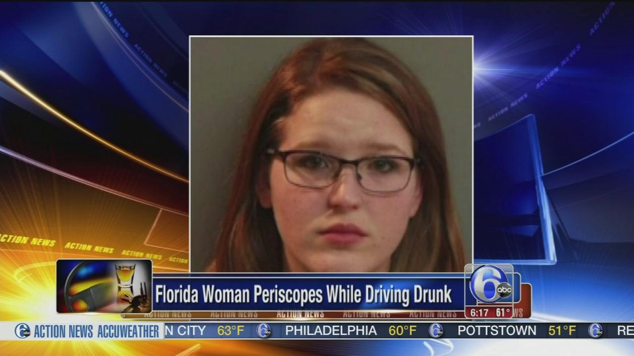 VIDEO: Woman uses Periscope while driving drunk