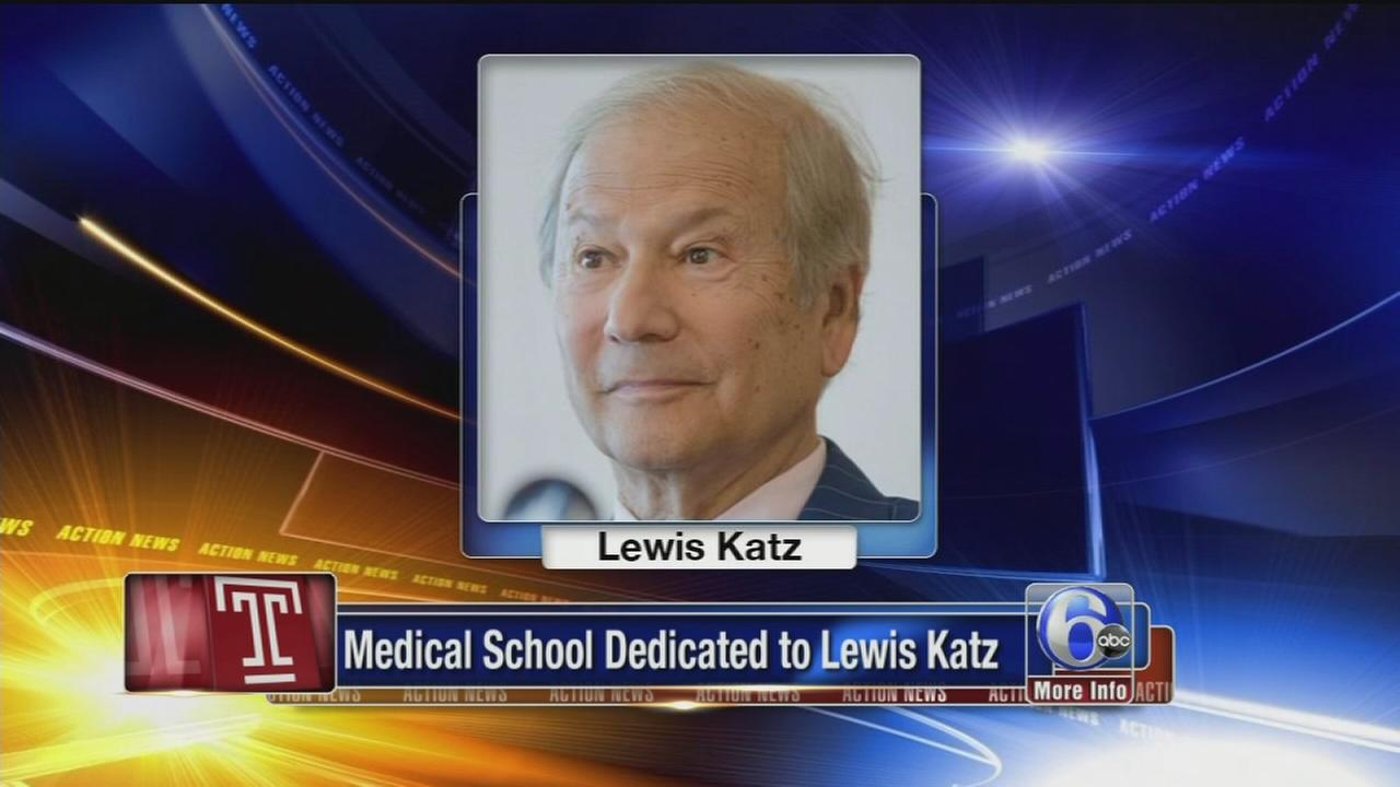 VIDEO: Temple University dedicated medical school to Lewis Katz