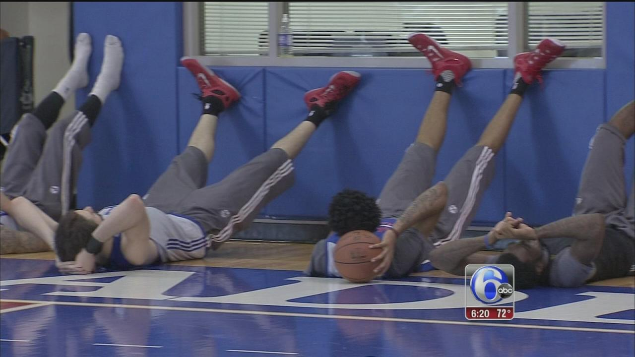 VIDEO: Sixers relaxing form of practice