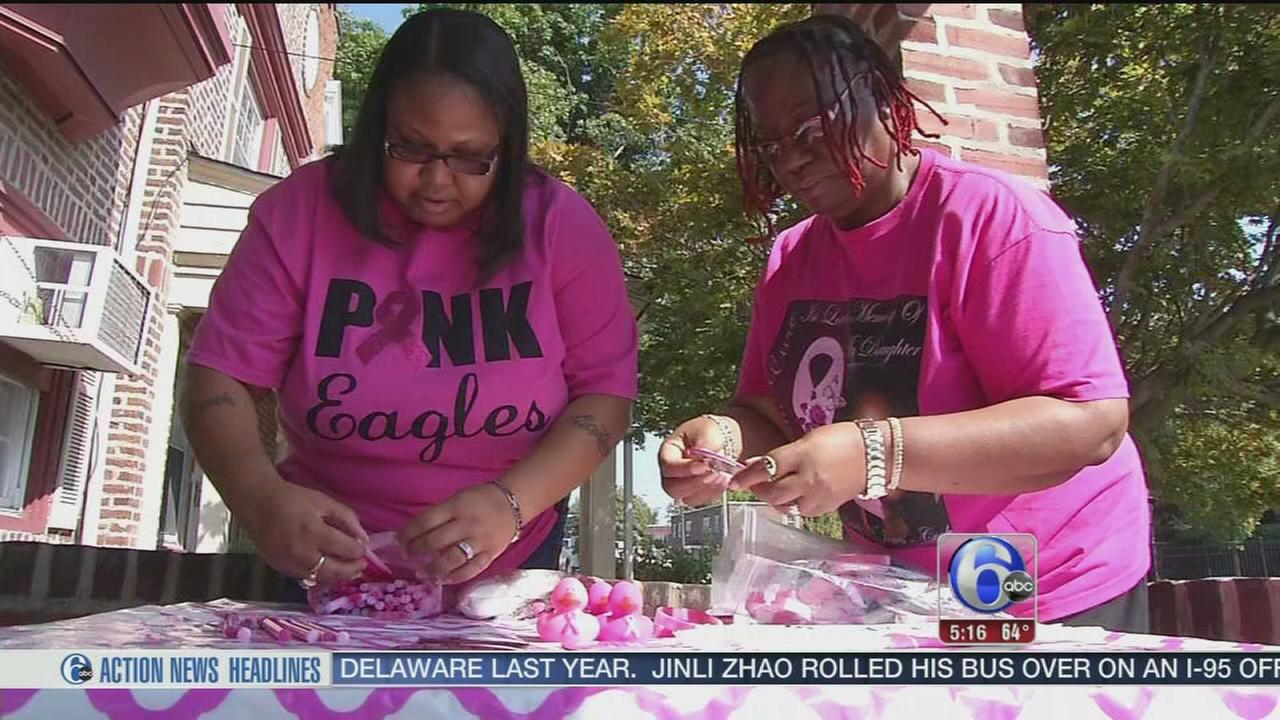 VIDEO: Pink Eagles set out on grassroots fight against breast cancer