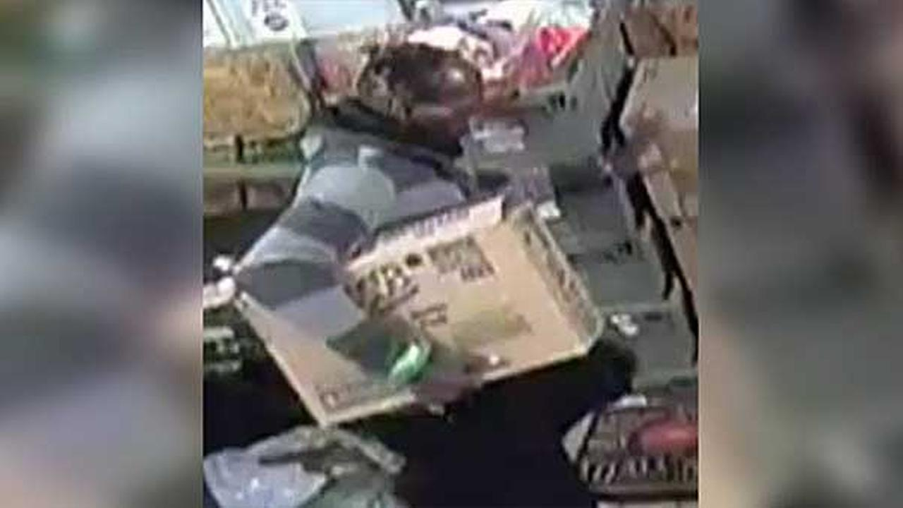 Philadelphia police are searching for a burglar who broke into a CVS store in the citys East Mount Airy section.