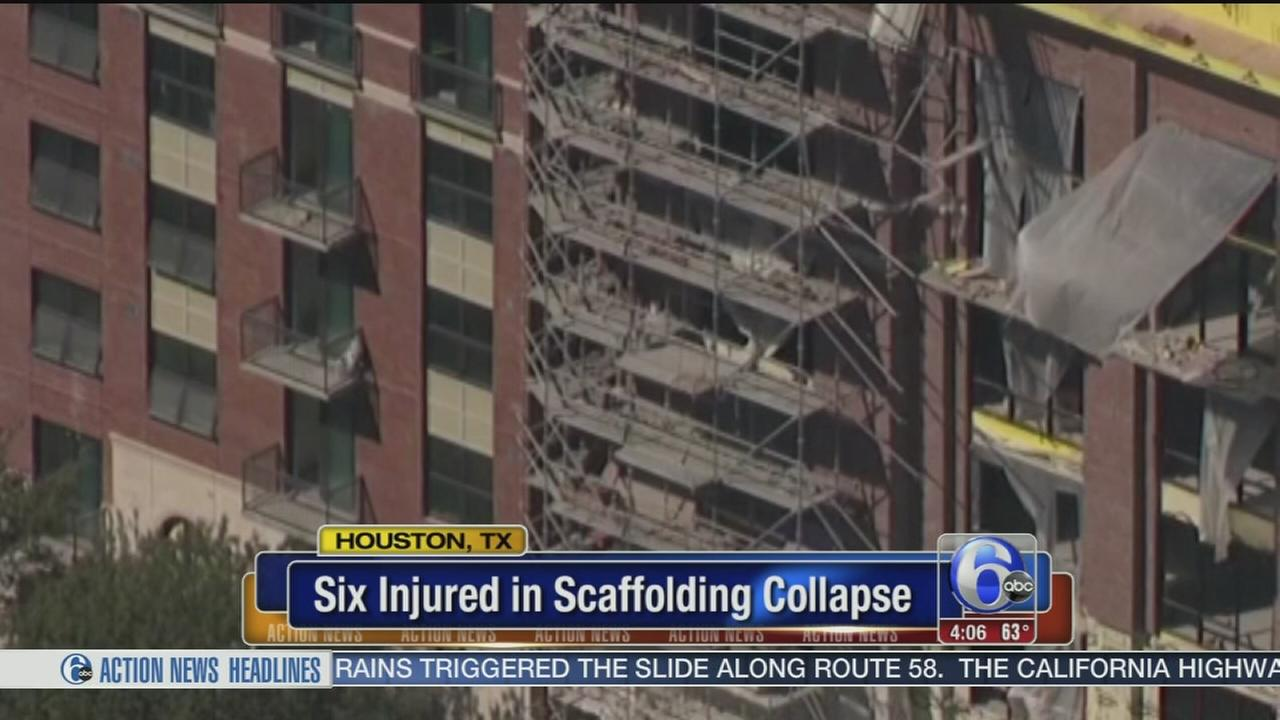 VIDEO: Scaffolding collapse in Houston, Texas