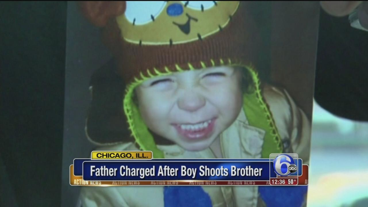 VIDEO: Father charged after boy shoots brother