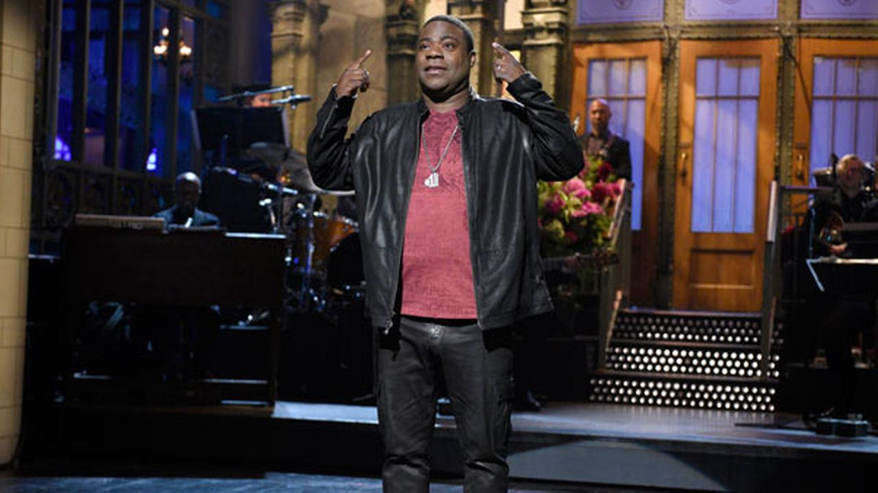 FILE - In this Saturday, Oct. 17, 2015, file photo, provided by NBC, actor and comedian Tracy Morgan speaks during a monologue on Saturday Night Live, in New York.