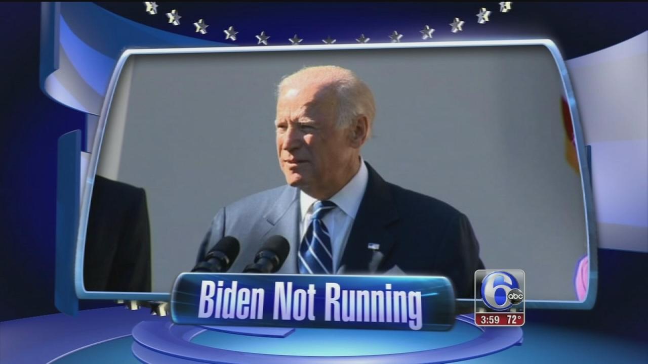 VIDEO: VP Biden not running for president
