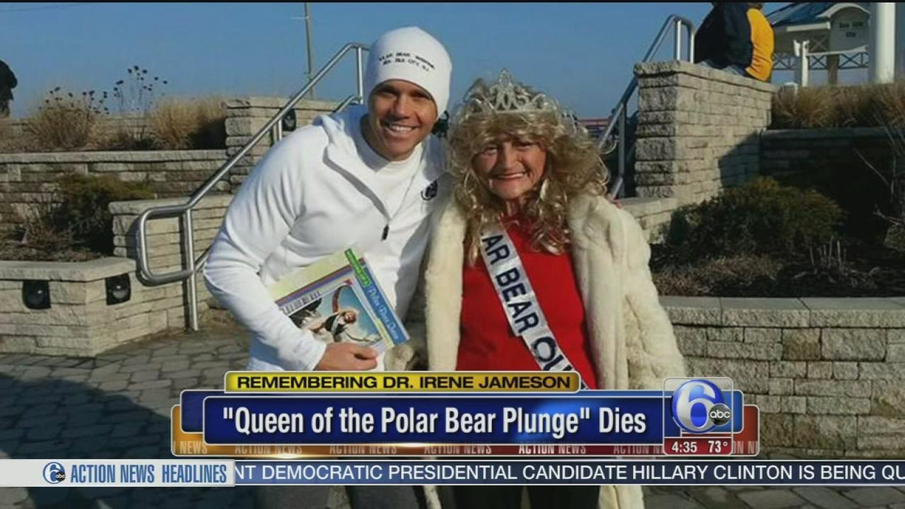 VIDEO: Sea Isle Queen of Polar Bear Plunge dies