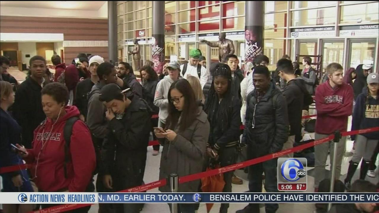 VIDEO: Ticket frenzy on Temples campus