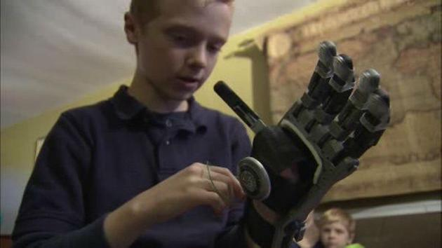 <div class='meta'><div class='origin-logo' data-origin='WPVI'></div><span class='caption-text' data-credit=''>10-year-old Colin Consavage of Claymont, Delaware created a prosthetic hand using the library's 3D printer.</span></div>