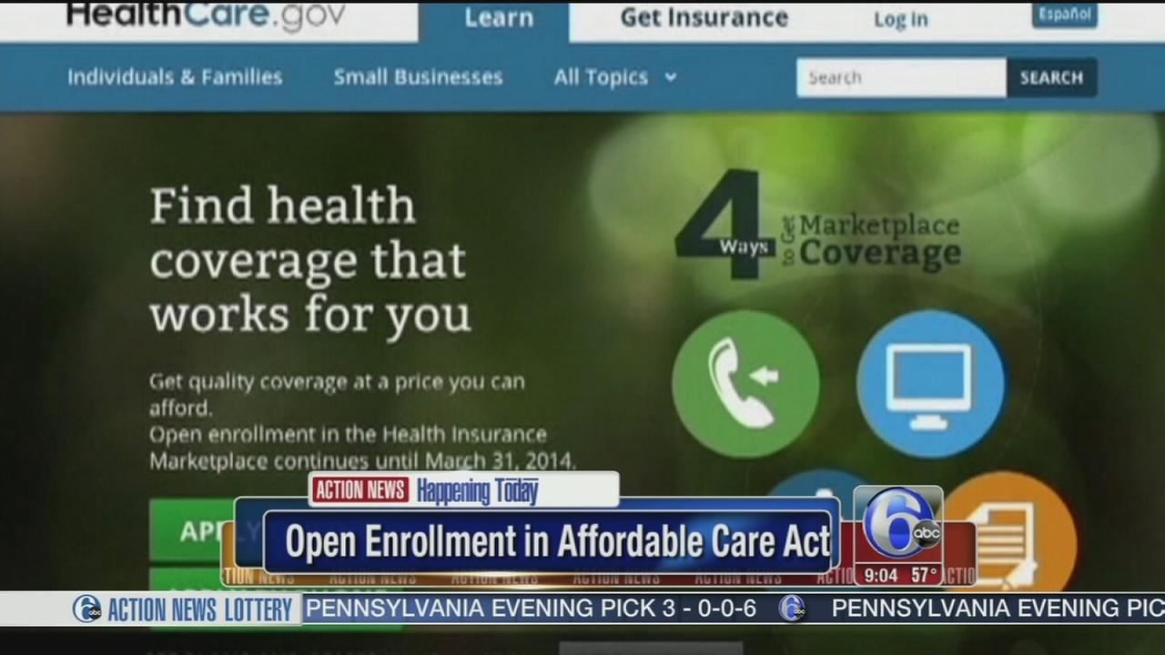 VIDEO: Open enrollment in Affordable Care Act