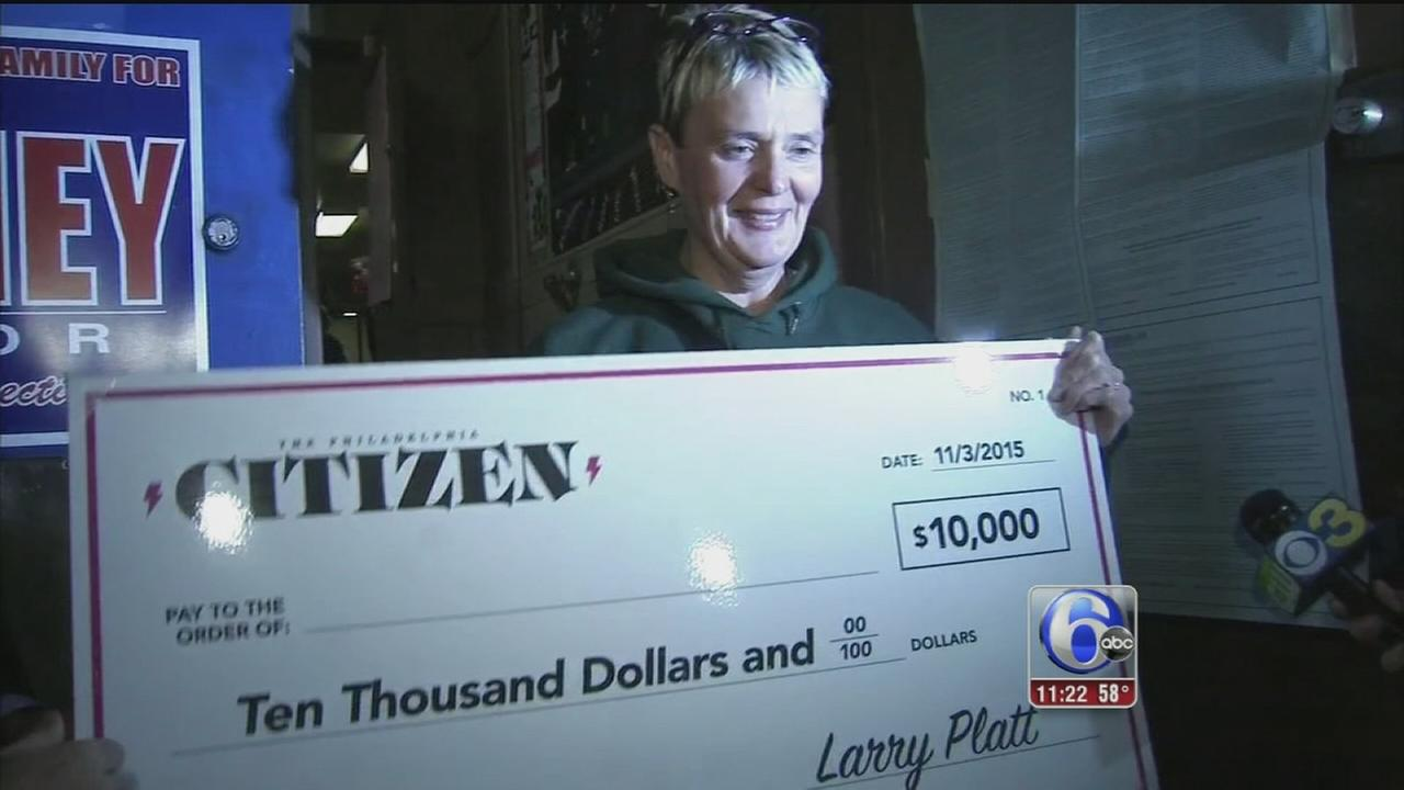 VIDEO: Woman wins 10K for voting