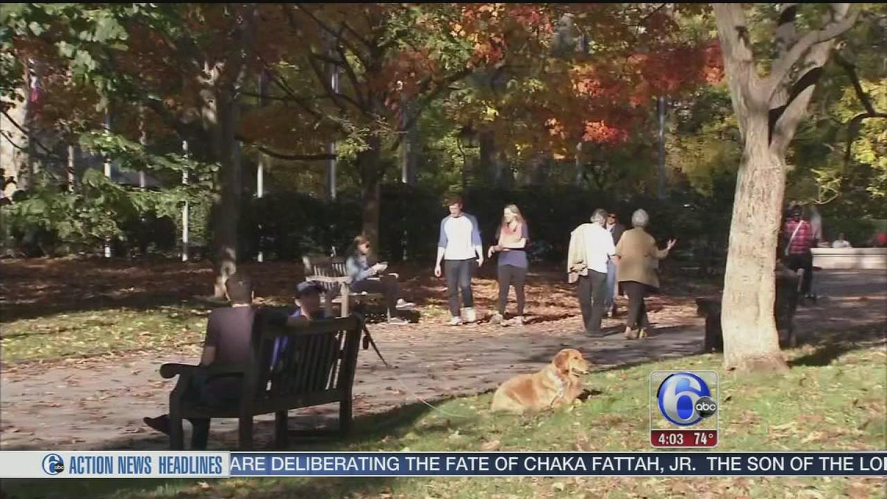 VIDEO: Many enjoying unseasonably warm November weather