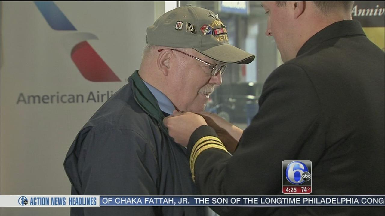 American Airlines honors its veteran employees
