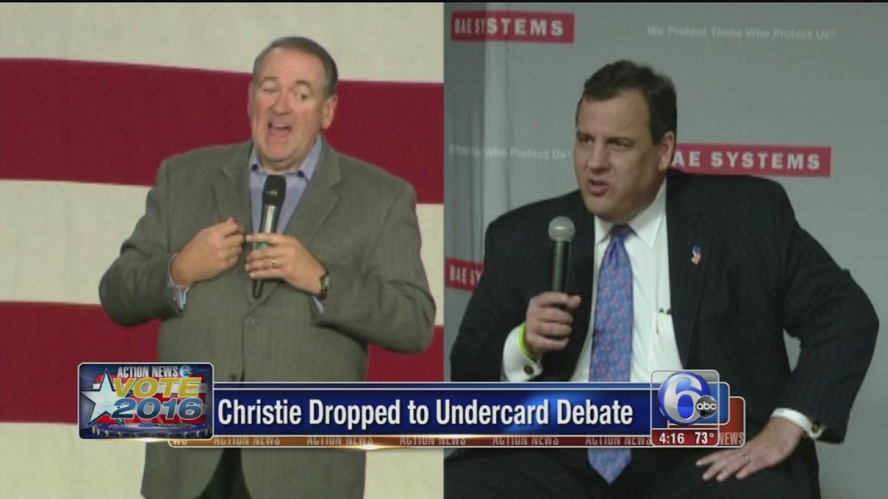 VIDEO: Christie, Huckabee dropped to undercard debate