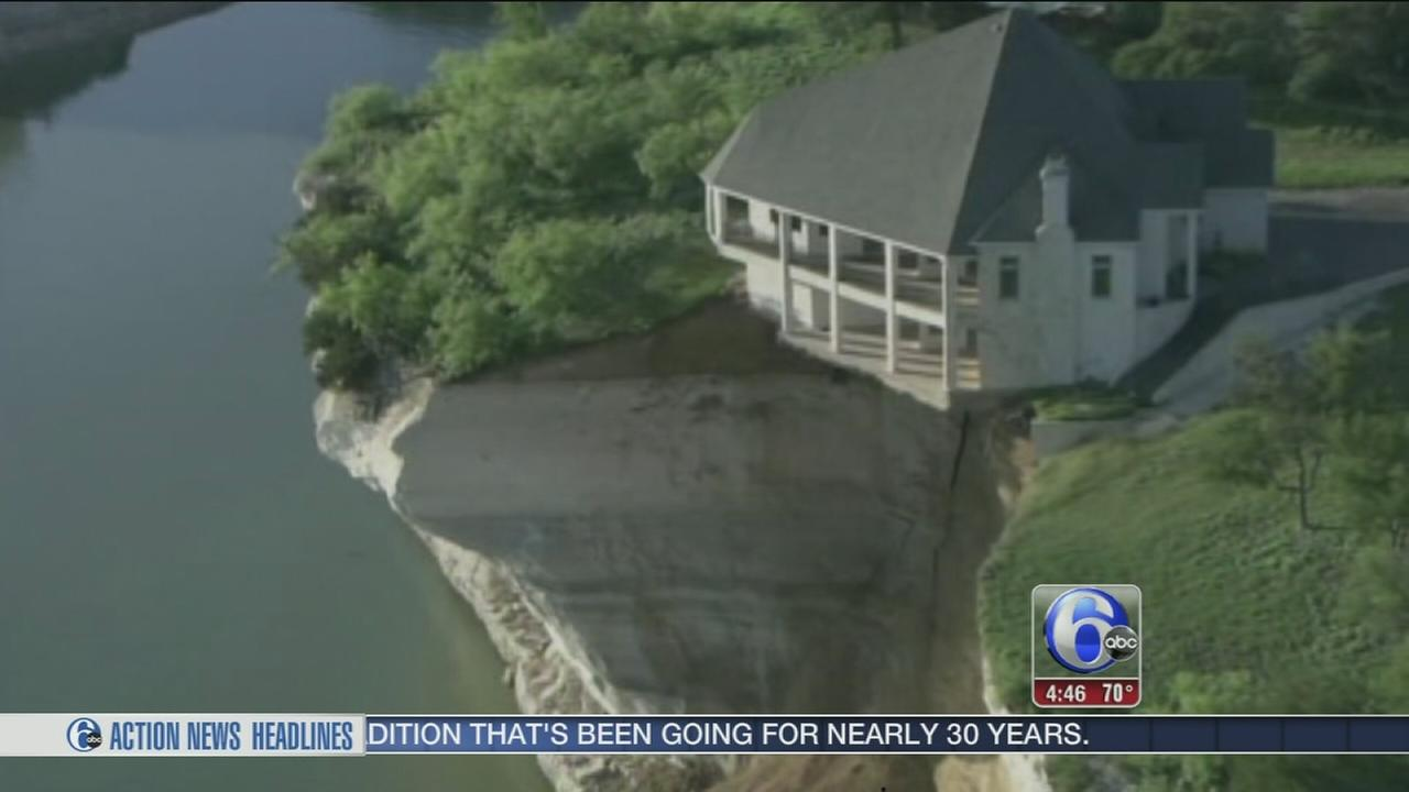 VIDEO: Luxury home dangles off cliff and water