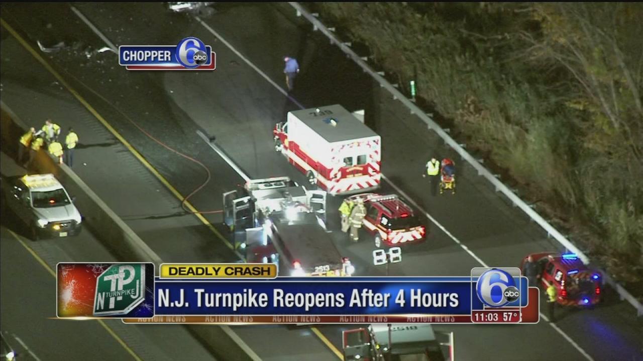 VIDEO: 2 killed in NJ Turnpike crash