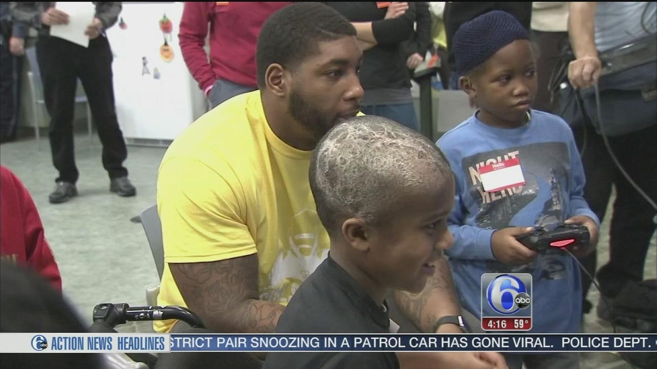 VIDEO: Devon Still hospital donation