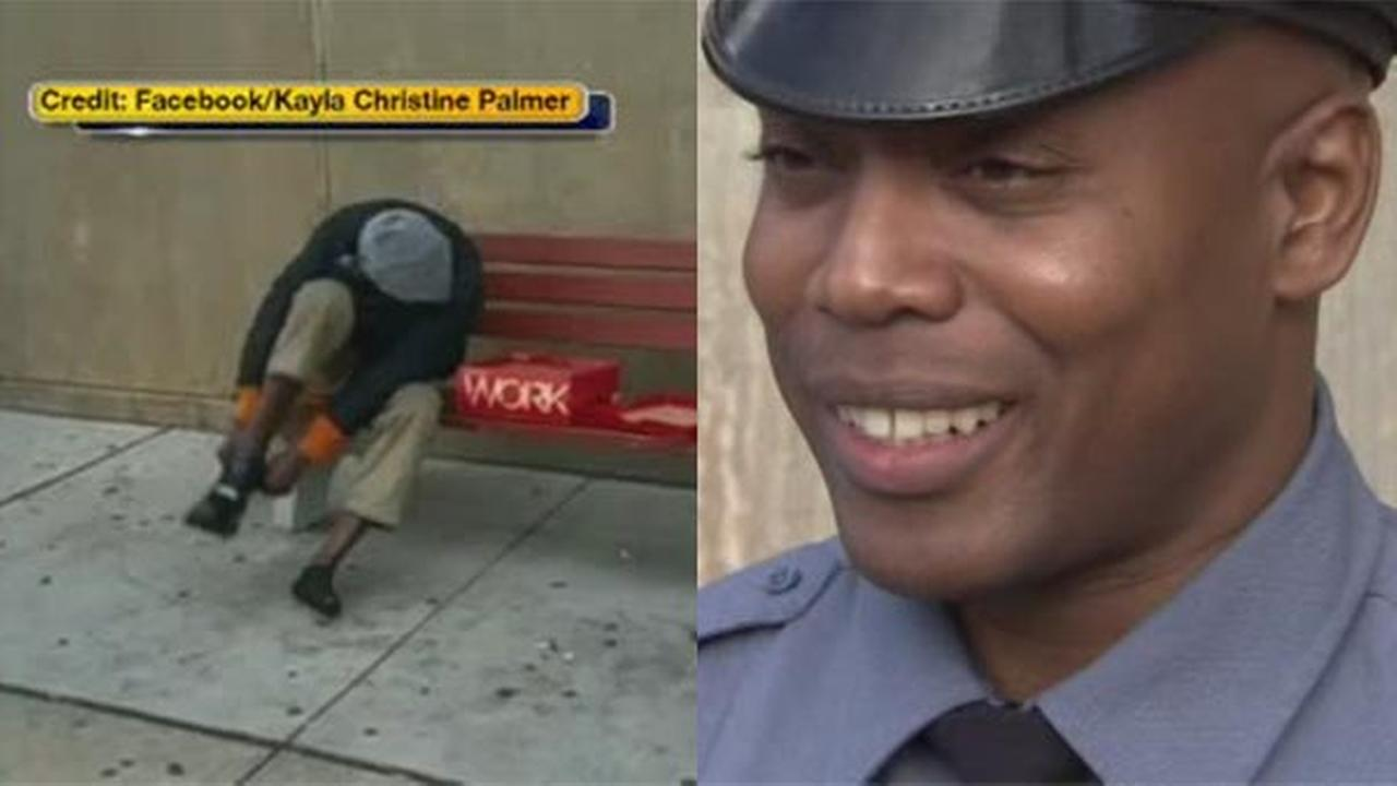 A video of an area police officers act of kindness has gone viral getting more than 2 million hits.