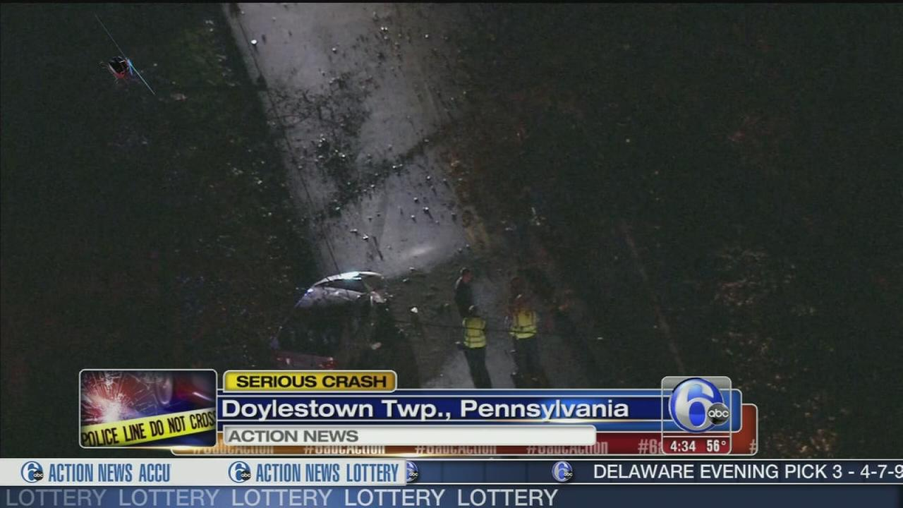 VIDEO: 1 hurt in Doylestown crash