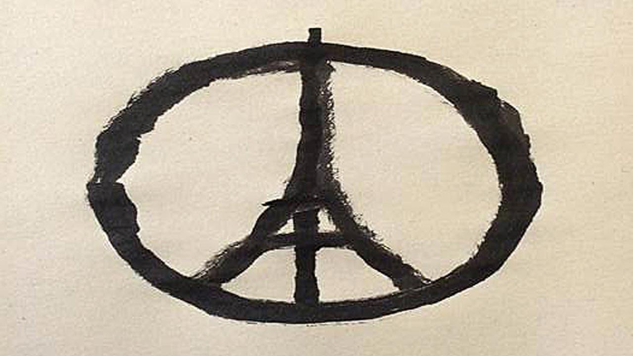 On Twitter and Instagram, people posted vacation photos, teardrops and a peace symbol with the Eiffel Tower inscribed in the center as they expressed their grief over the carnage.