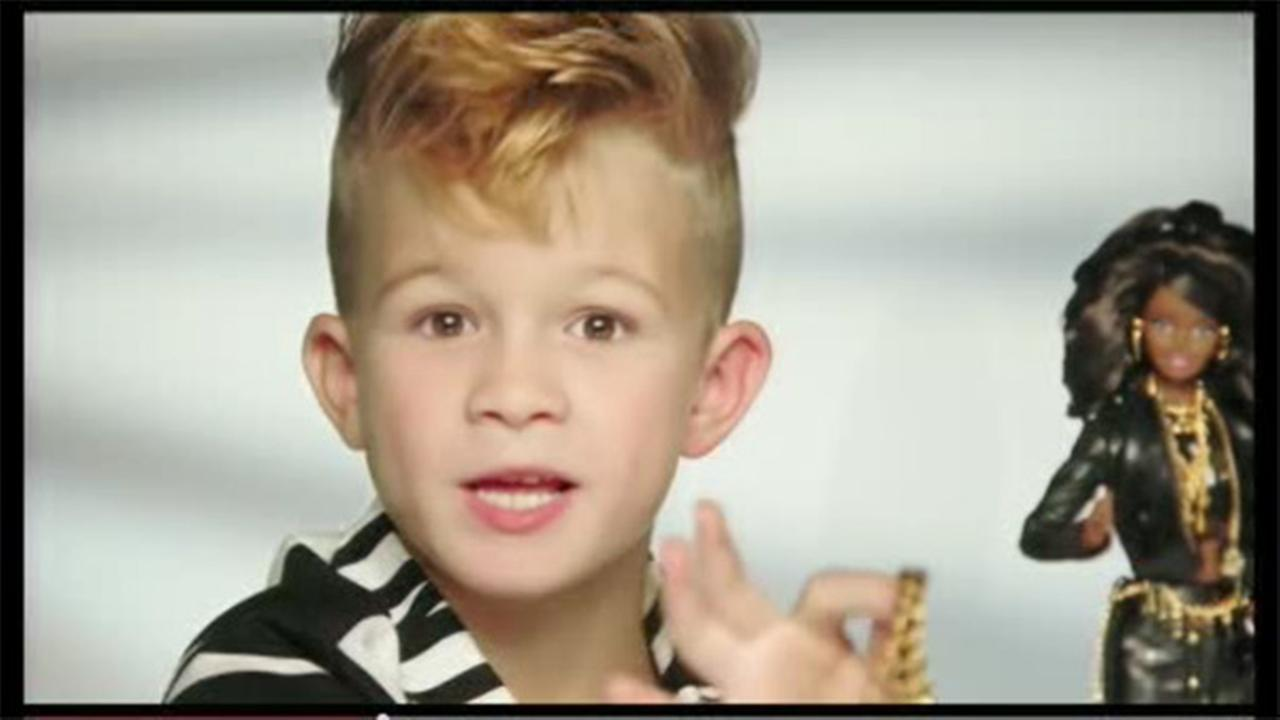 Boy stars in Moschino Barbie commercial