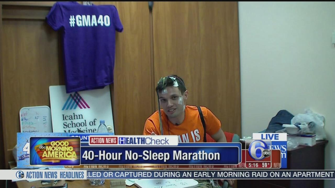 VIDEO: 40-hour no-sleep marathon