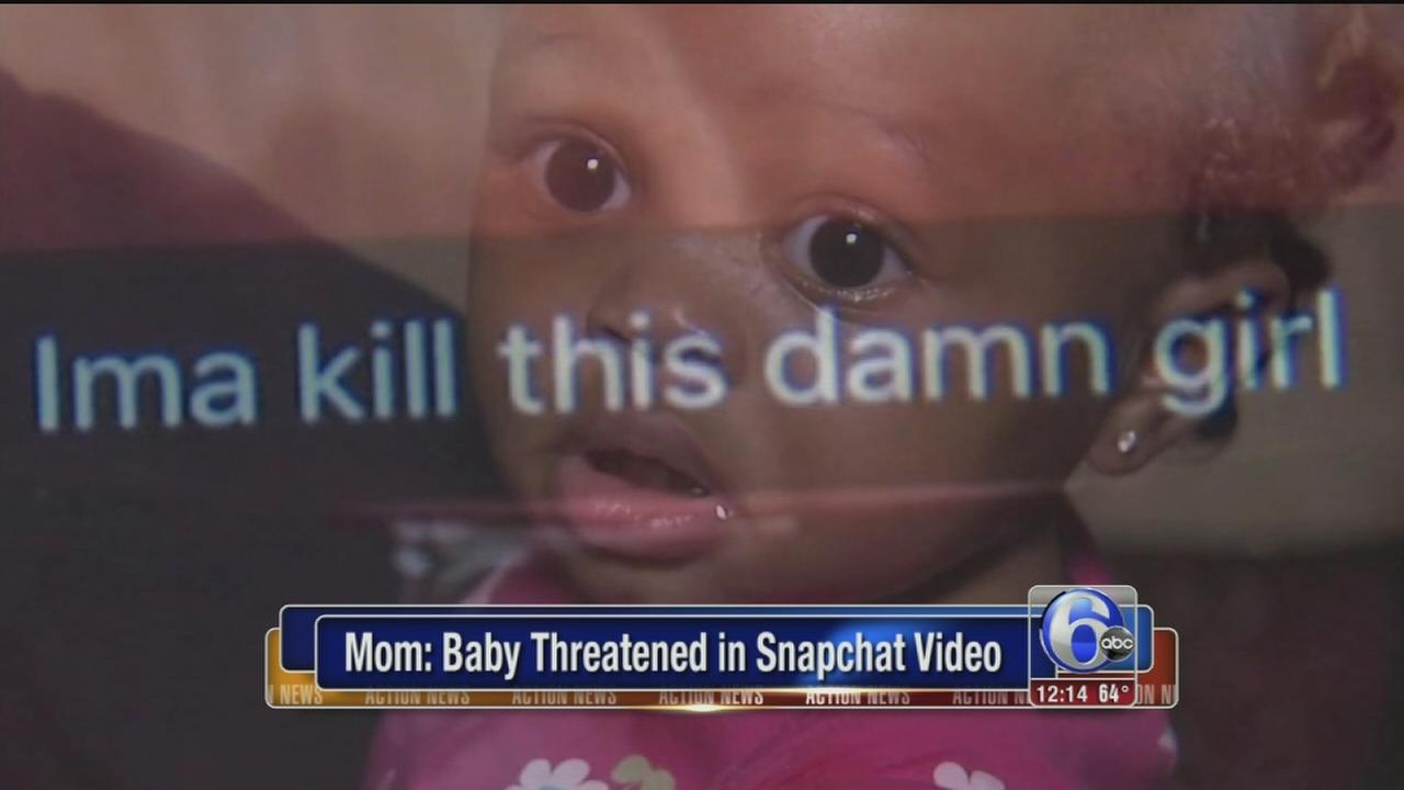 VIDEO: Baby threatened in Snapchat video, mom says