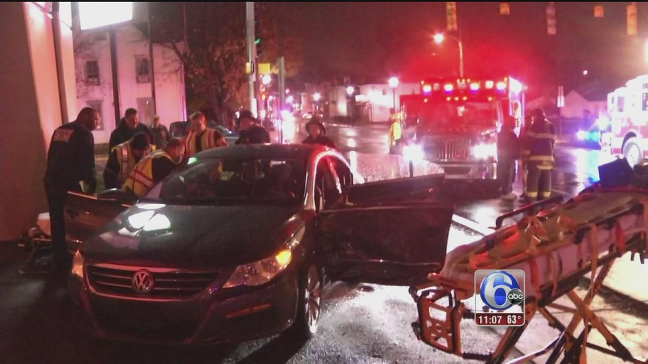 VIDEO: 6 injured in Newport, Del. crash