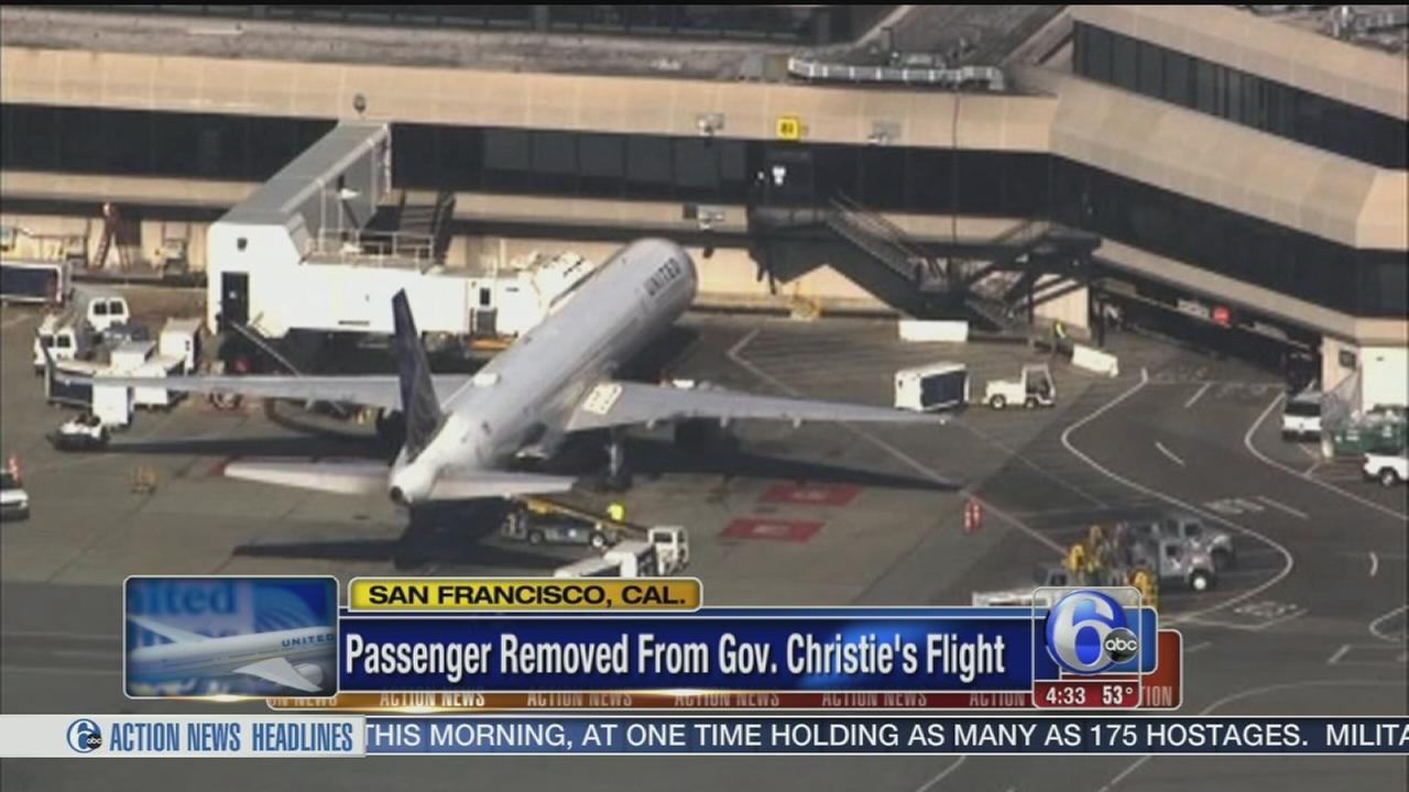VIDEO: Passenger removed from Gov. Christie?s flight