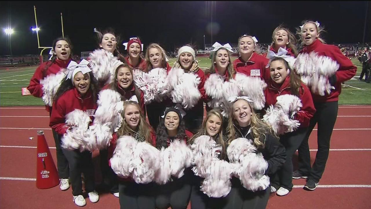VIDEO: High School Huddle Cheerleaders