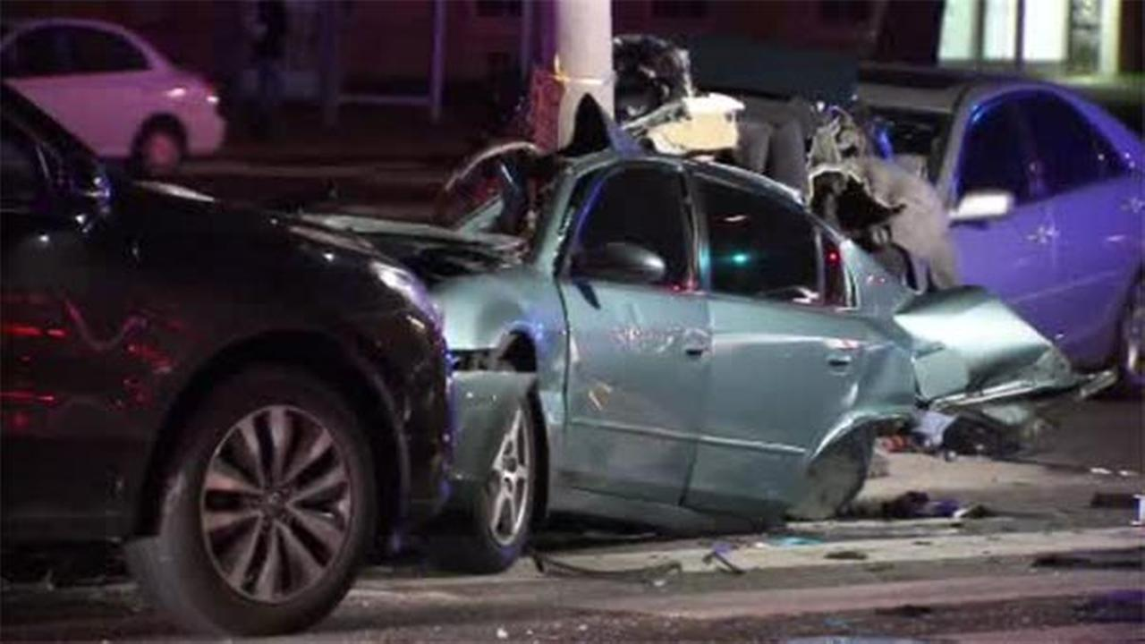 A multi-vehicle crash left one person dead and two others injured in Northeast Philadelphia.