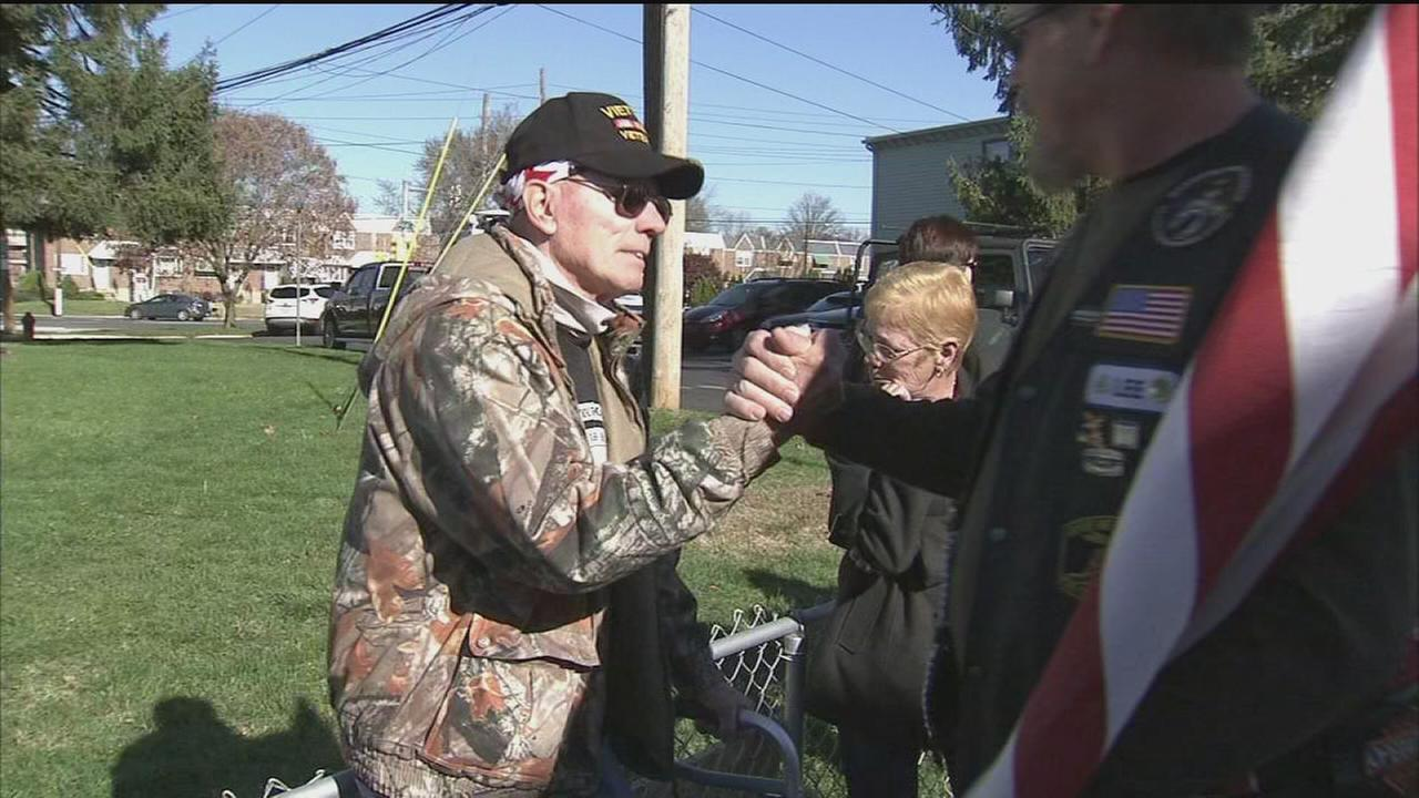 VIDEO: Volunteers build deck for war vet