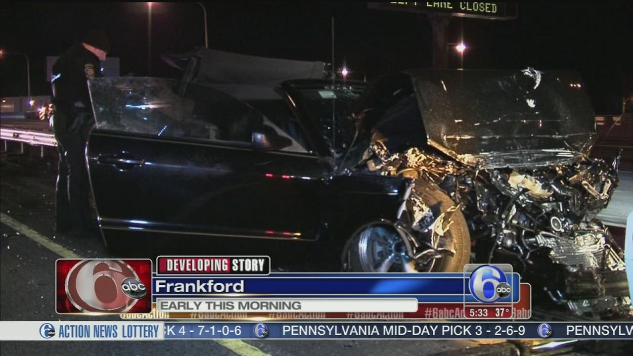 VIDEO: Crash on I-95 in Frankford