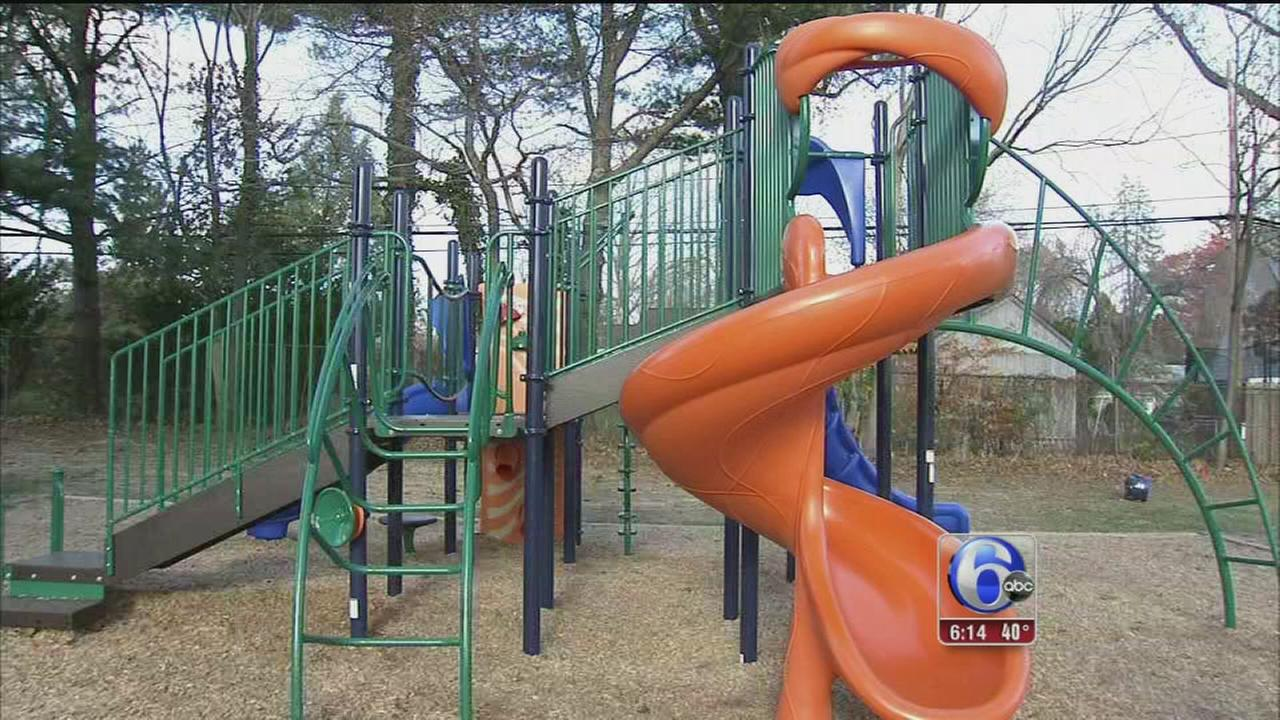 Giving thanks for a new playground