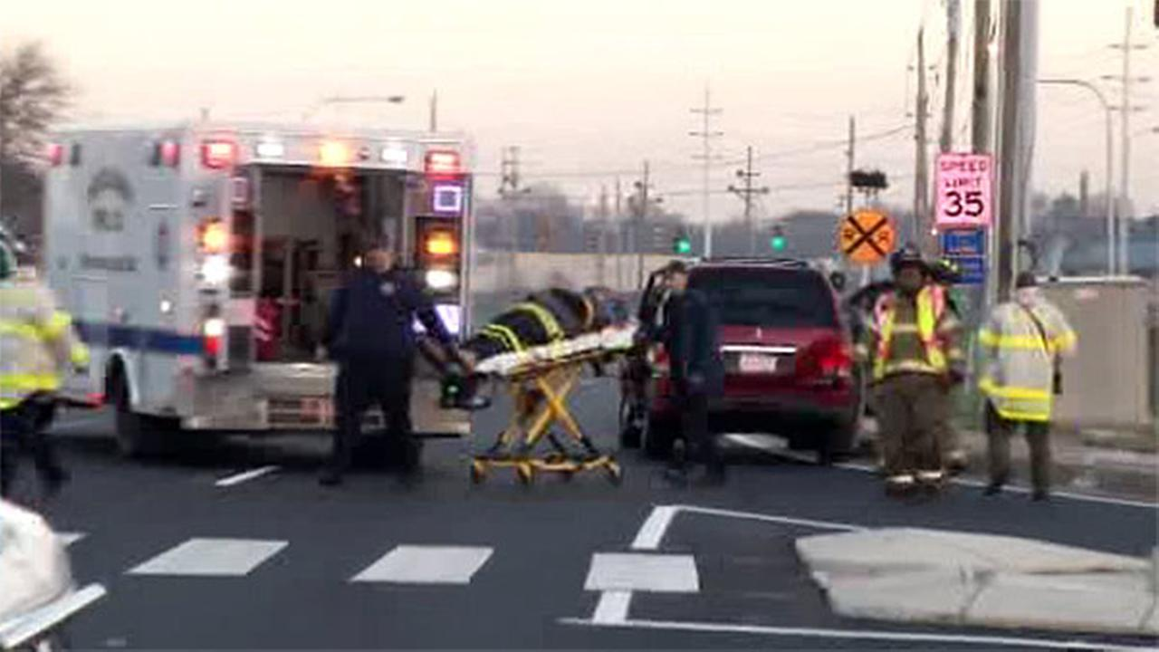 Ambulance, SUV collide in Newport, Delaware