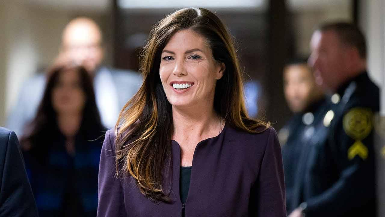 Pennsylvania Attorney General Kathleen Kane departs after her preliminary hearing Tuesday, Nov. 10, 2015, at the Montgomery County courthouse in Norristown, Pa.