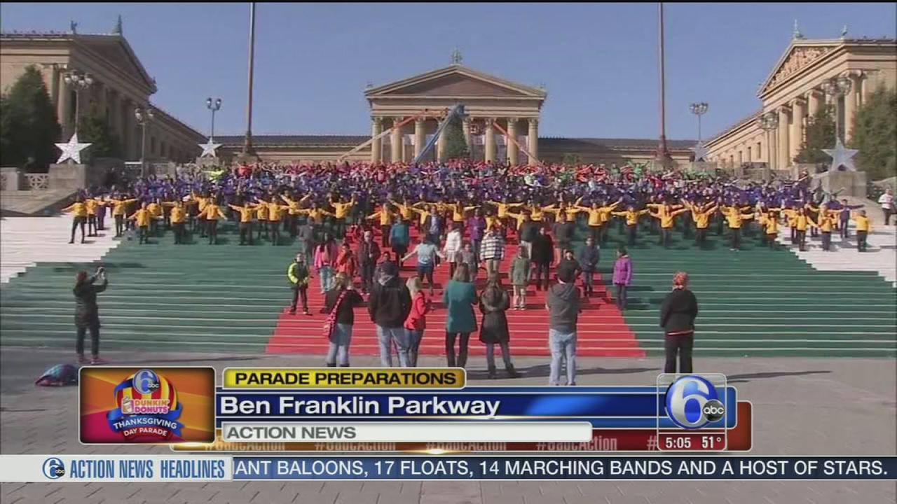 VIDEO: Parade preps on the Parkway