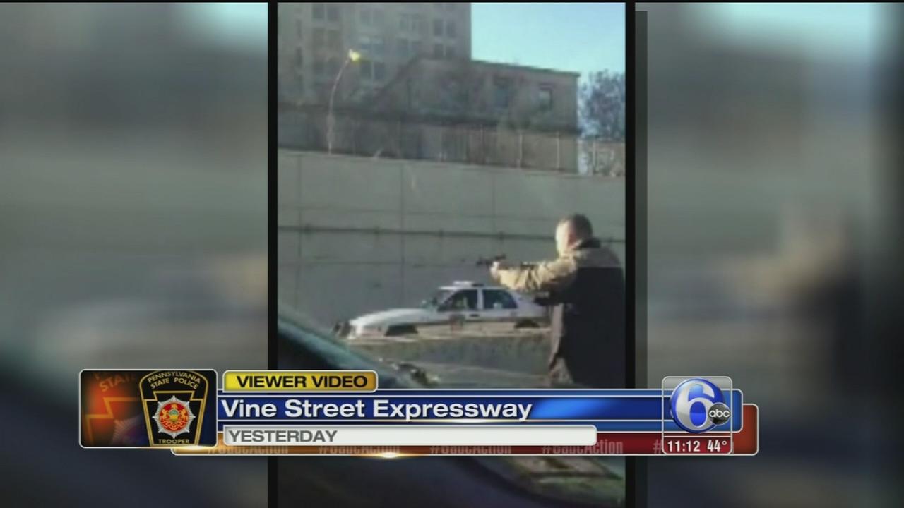 VIDEO: Viewer captures I-676 standoff