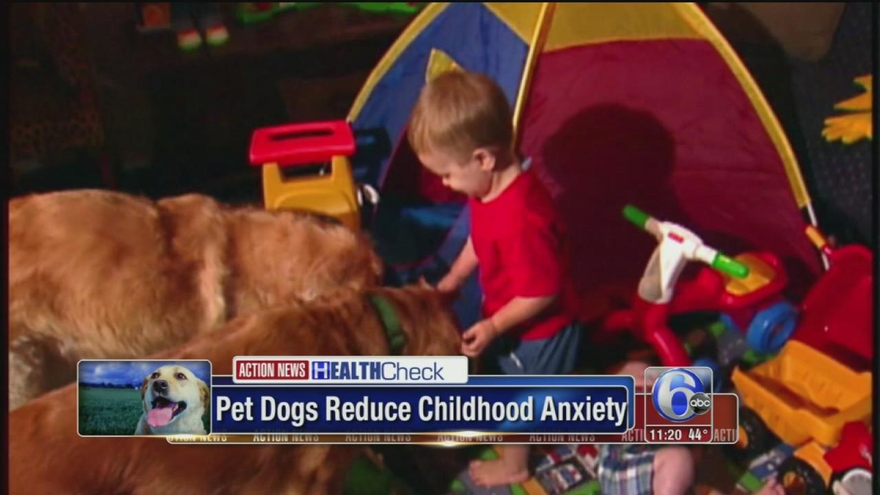 VIDEO: Pet dogs reduce kids anxiety