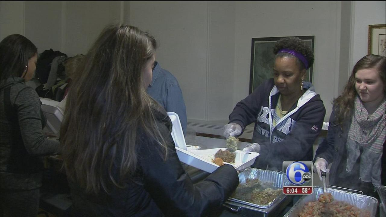 VIDEO: Church feeds homeless