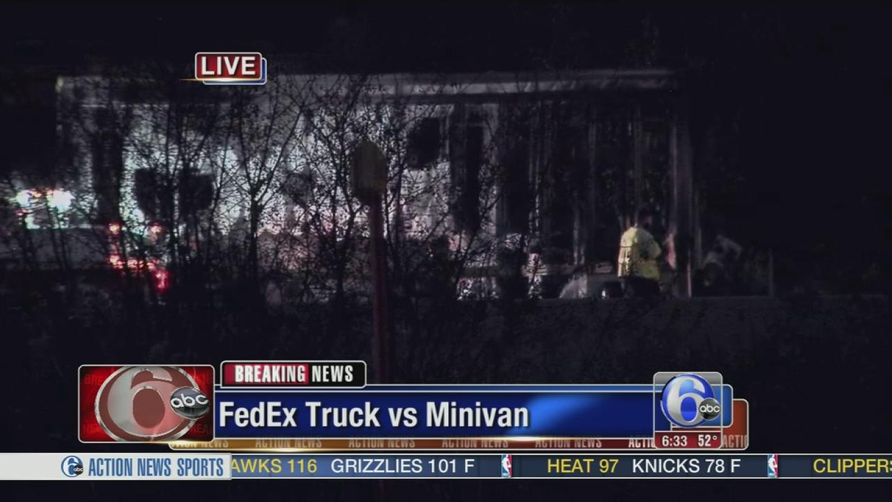VIDEO: Fiery crash slows traffic on NJ Turnpike