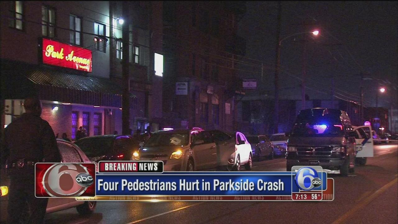 VIDEO: 4 struck, injured in ped ax