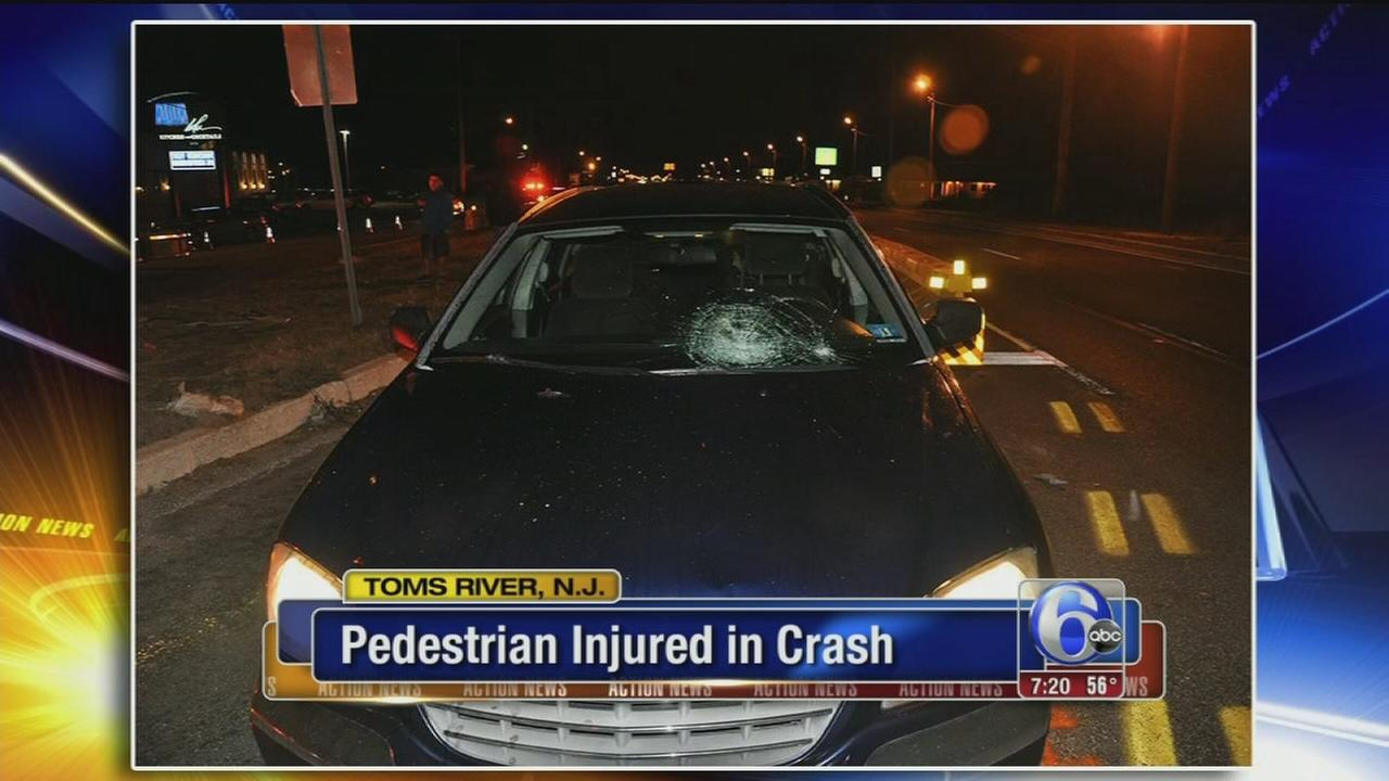 VIDEO: Pedestrian injured in crash
