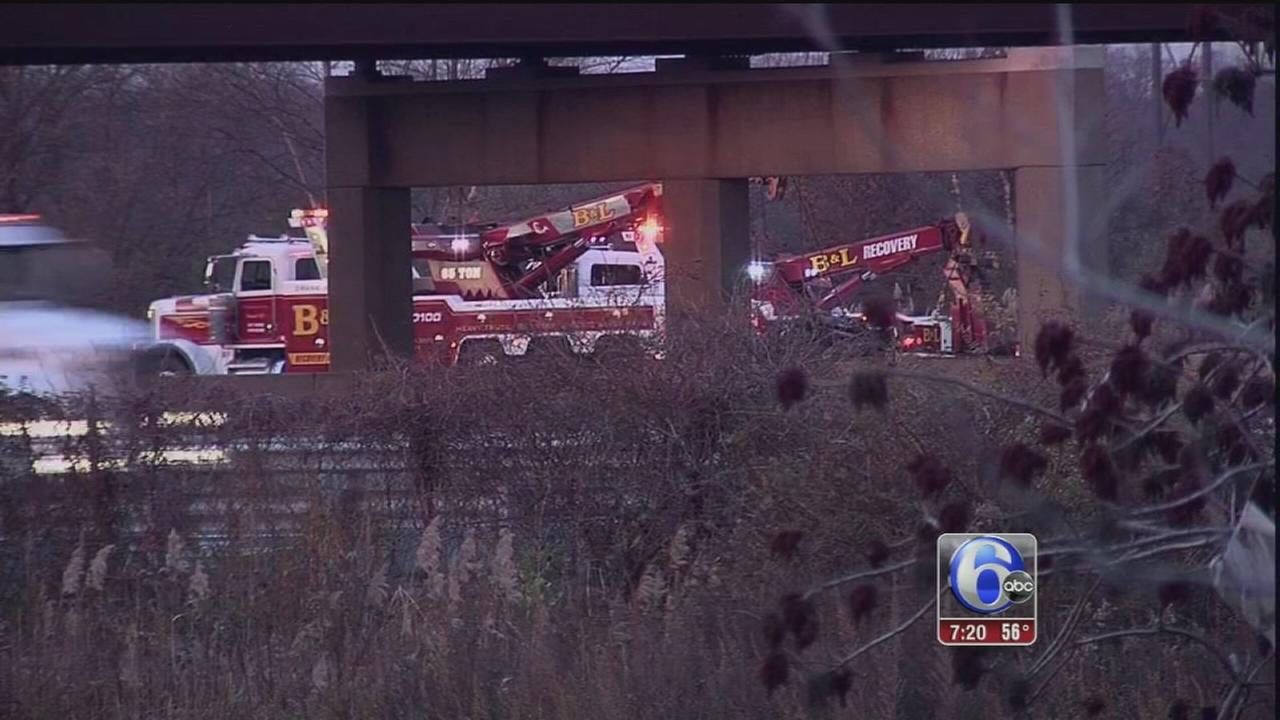 VIDEO: Fiery crash on NJ turnpike