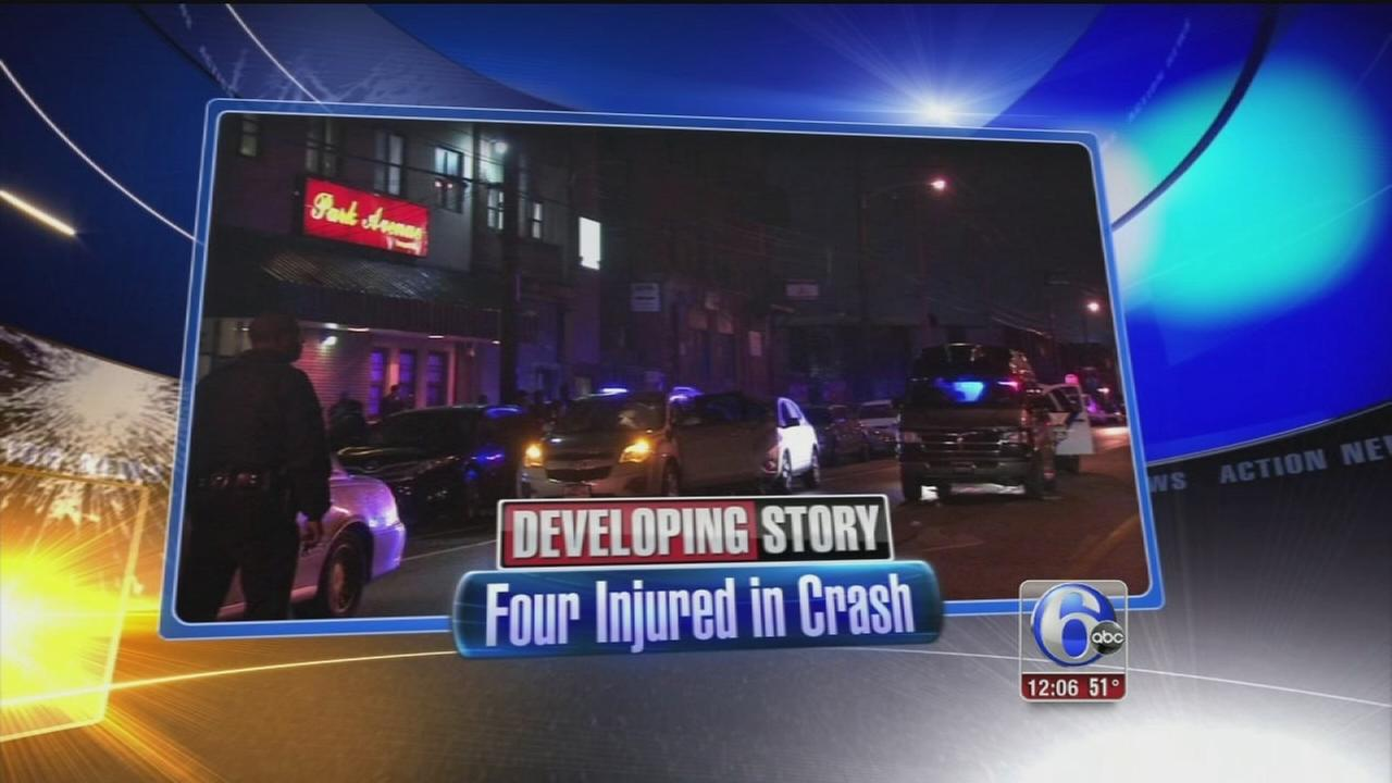 VIDEO: Four injured in crash