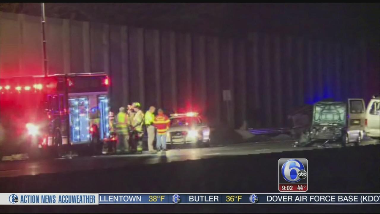 VIDEO: 3 dead in crash involving car, van, truck carrying cows