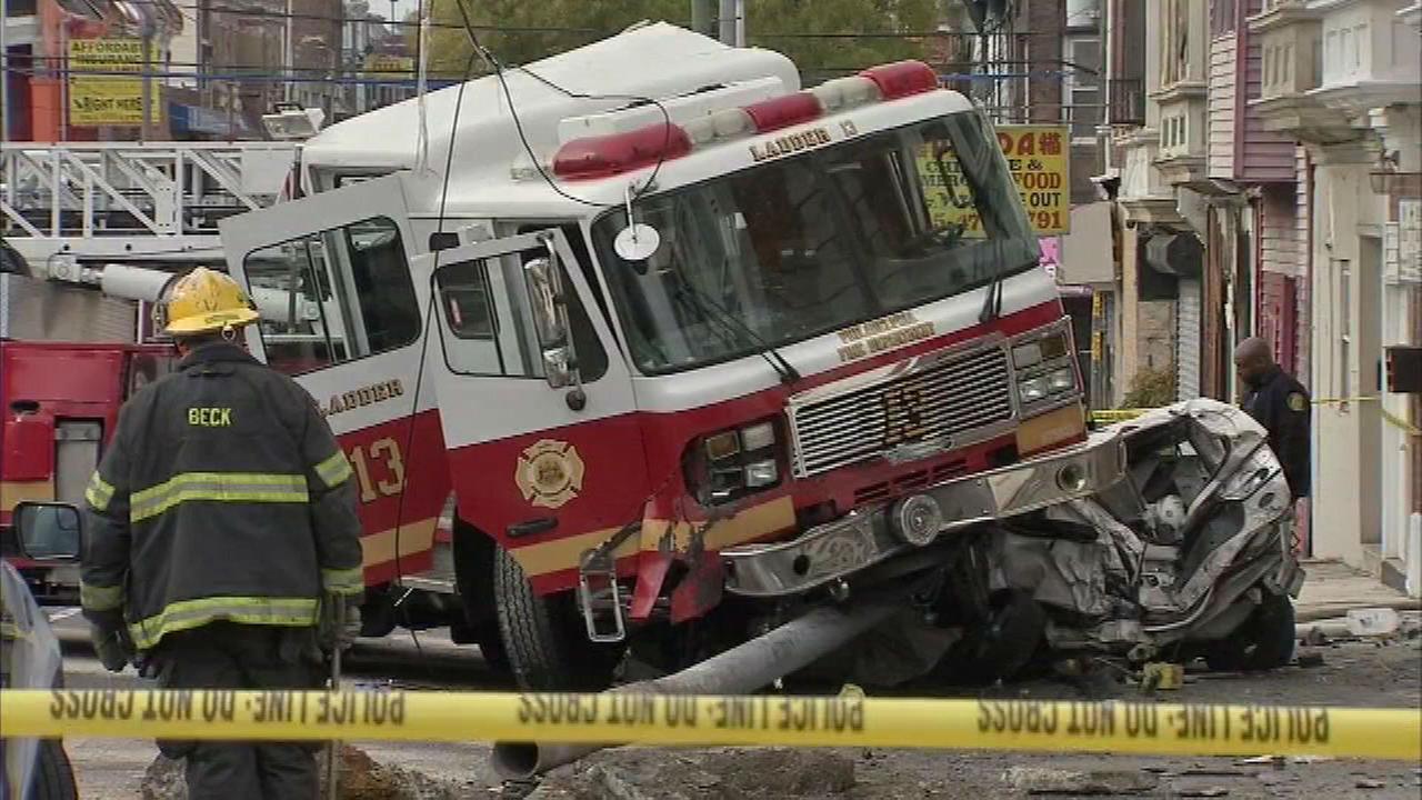 PHOTOS: Fire truck accident in West Philadelphia | 6abc.com