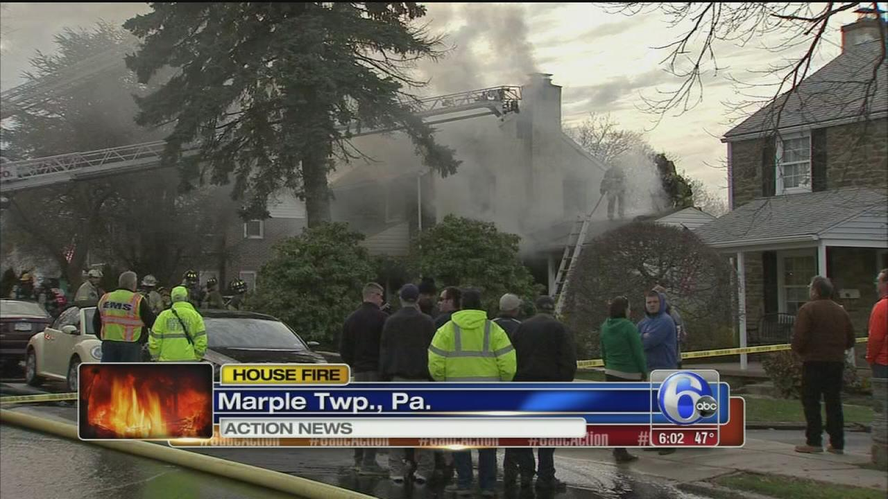 VIDEO: Marple house fire