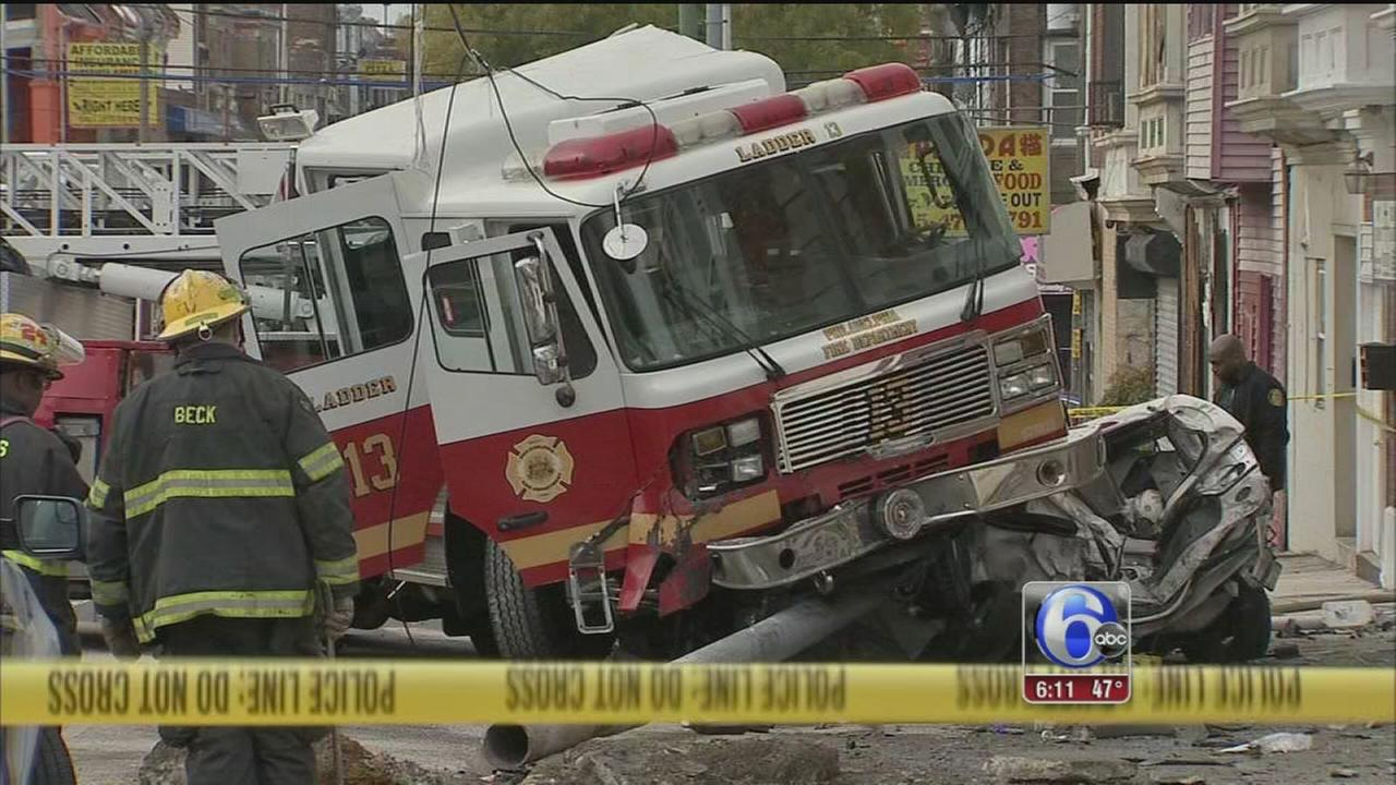 VIDEO: Fire truck crash