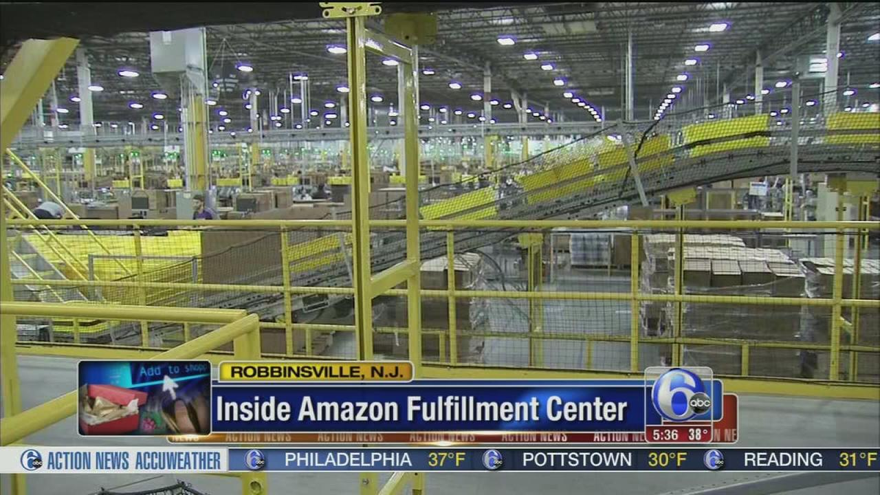 VIDEO: Amazon facility ready for Cyber Monday