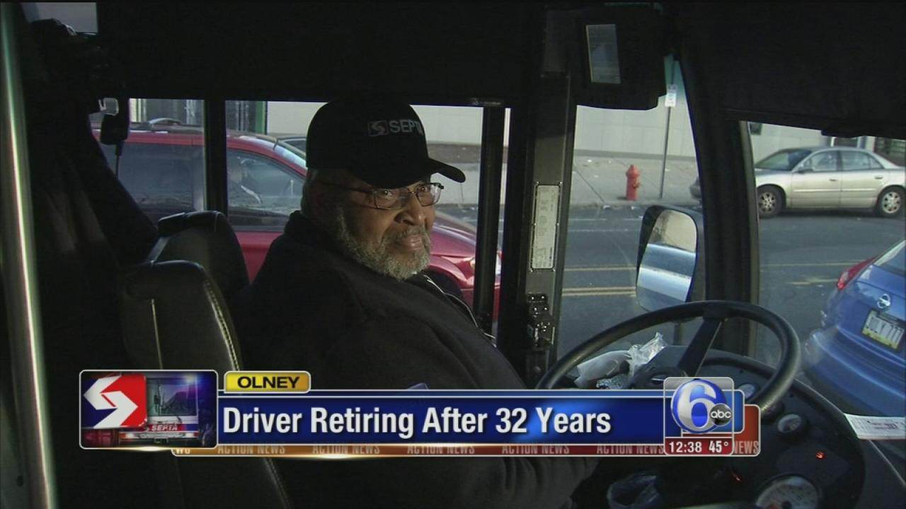 VIDEO: SEPTA bus driver retiring after 32 years